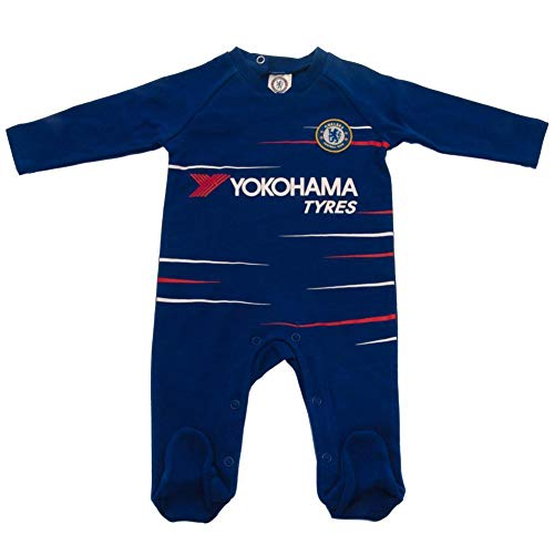 Chelsea FC Baby TS Sleepsuit (3-6 Months) (Blue)