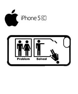Problem Solved Funny Mobile Cell Phone Case Cover iPhone 5c White