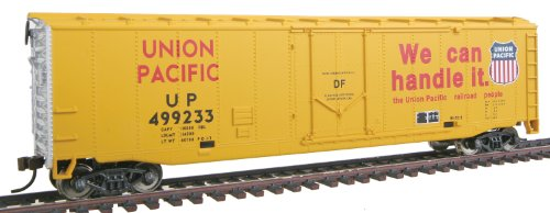 Walthers Trainline 50' Plug-Door Boxcar with Metal Wheels Ready to Run Union Pacific