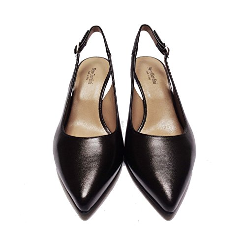 Nero Giardini 5520 Sandales Chanel Pour Femmes En Cuir Noir Talon Cm. 6, Num. 36