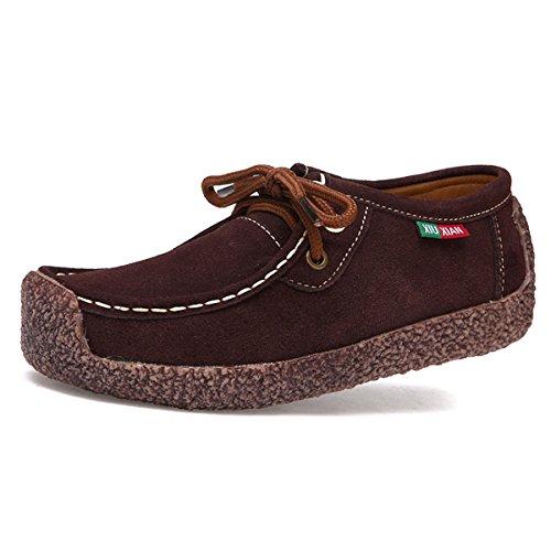 Mocassins Flaneurs Chaussures Loisir Fond Bout Chaussure Carr De Plat Femme Chnhira OpWAw0