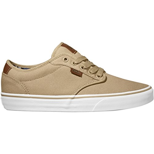 Atwood Deluxe Skate Shoes, White/Tan, 8.5 by Vans for Men's