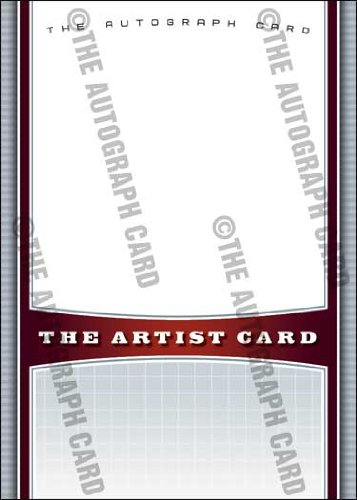 The Blank Autograph Card: Generic Sketch and Signature Autographed Card - Comic Book Convention or Signings? (The Artist and their Sketch)(Baseball Cards) (Trading Cards) Anime, Graphic Novelist, ComicCON
