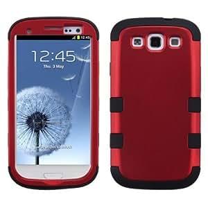 MYBAT SAMSIIIHPCTUFFSO006NP Premium TUFF Case for Samsung Galaxy S3 - 1 Pack - Retail Packaging - Titanium Red...
