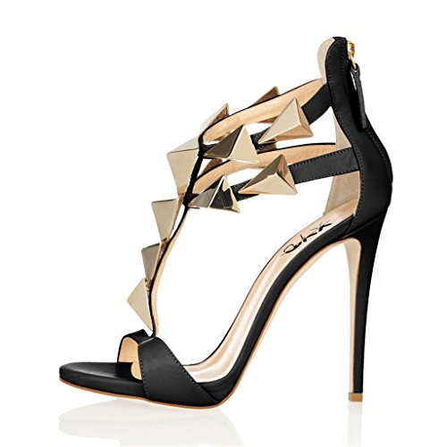 for sale under $60 XYD Party Stilettos Pumps Cute T-Strap Heels Open Toe Dress Shoes Summer Gladiator Sandals For Women Black with credit card for sale footlocker for sale 1pwX9