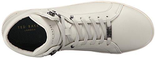 Ted Baker Men's Alcaeus 2 Fashion Sneaker, White White Leather