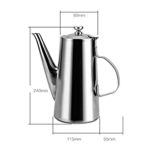 Stainless steel cold kettle tea pot,Multipurpose Coffee, juice, milk, Anti-drip spout design Drinkware bottles,jugs,high quality