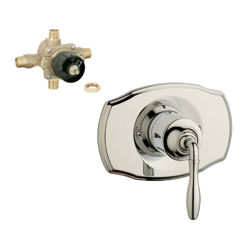 Grohe K19708-35015R-BE0 Seabury Tub and Shower Valve Kit, Polished Nickel by GROHE