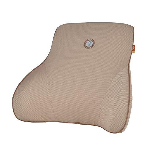 GiGi Charcoal Memory Foam Car Lumbar Pillow ,Lumbar Seat Cushion,Car Backrest, Use In Travel Home Office Car ,Protect Waist - Apricot