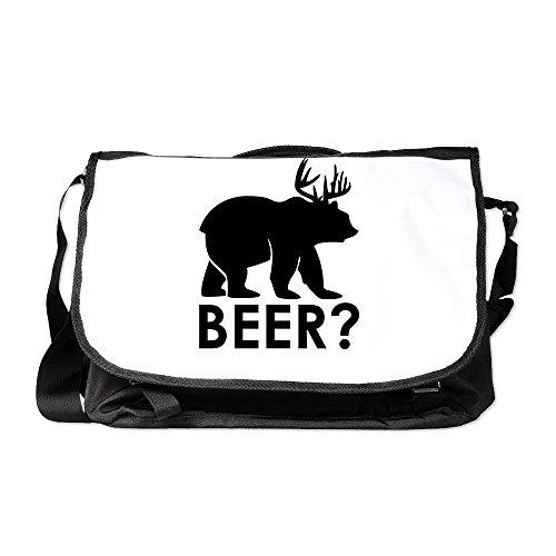 Truly Teague Laptop Notebook Messenger Bag Deer Plus Bear Equals BEER!