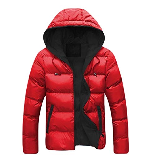Pocket Outwear Black Casual Warm Hooded Zip Short Howme Jacket Men Coat Awz5Fqnnp