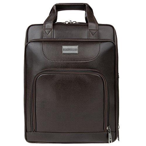 85%OFF VanGoddy PU Leather Backpack Laptop Bag Breifcase for iPad Pro 12.9    Microsoft 70095d623e7b0