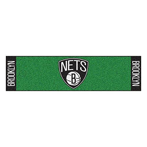 (FANMATS NBA Brooklyn Nets Nylon Face Putting Green Mat)