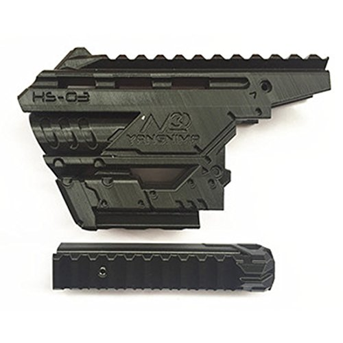 WOLFBUSH 3D Printing Modified Front Tube + Top Rail Mount Kit for Nerf Zombie Strike Hammershot Blaster