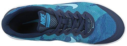 NIKE - NIKE FLEX EXPERIENCE RN 4 PREM - 749174 401 - Chaussures - Homme - Taille: 40.5 - Bleu marine / Bleu / Blanc