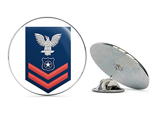 (US Navy Red E-5 Master at Arms MA Military Veteran USA Pride Served Gift Metal 0.75