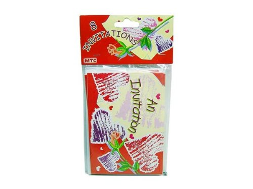 Heart invitations, pack of 8 - Case of 144