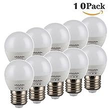 ChiChinLighting 10 Pieces 5W G14 E26 E27 Base Mirror Vanity Light Bulbs - LED Globe Bulbs. Daylight Light Bulbs