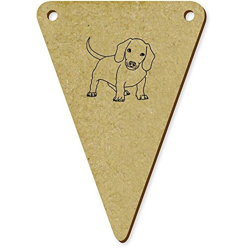 Azeeda 5 x 70mm 'Dachshund Dog' Wooden Bunting Flags (BN00025441) -