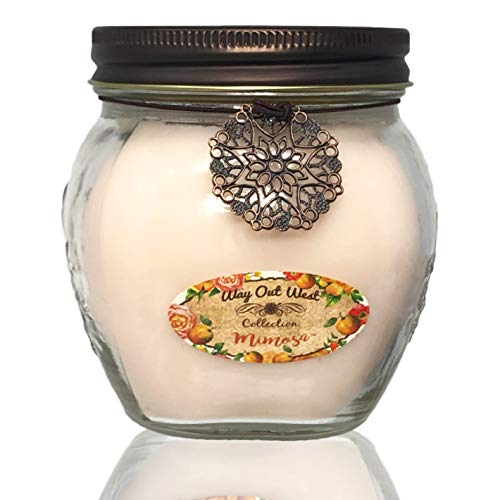 Way Out  West Scented Jar Candle Mimosa - 17 Oz Long Lasting Soy Blend - Made in USA for Mom