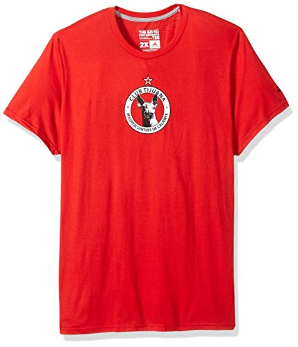 fan products of MLS Club Tijuana Men's Team Crest Short Performance Tee, 2X-Large, Red