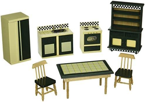 Superb Melissa U0026 Doug Doll House Kitchen Furniture (Set Of 7), Buttery Yellow/Deep  Green