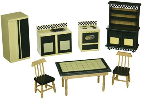 picture of Melissa & Doug Doll-House Furniture- Kitchen Set