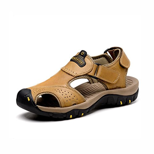Sandali Outdoor Beach Toe Colore Sandali da 42 uomo 2 Closed Uomo Collision 2 Leather Dimensione Casual Shoes estivi Sport Outdoor Anti Escursionismo Baotou Fisherman Sport 6IIqrWw8