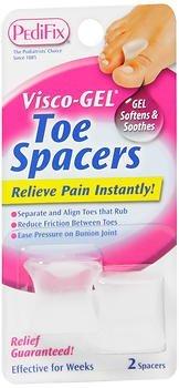 PediFix Visco-Gel Toe Spacers - 2 Spacers, Pack of 3 by Pedifix