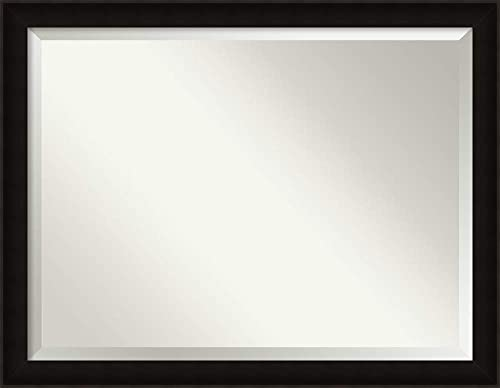 Framed Mirrors for Wall Manteaux Black Mirror for Wall Solid Wood Wall Mirrors X-Large Wall Mirror 44.38 x 34.38 in.