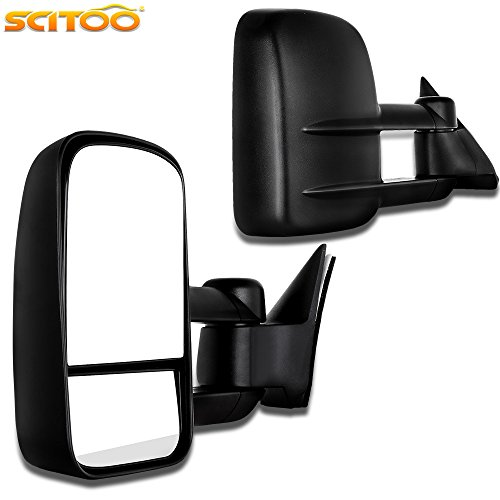 Scitoo Towing Mirrors for Chevrolet Gmc C K 1500 2500 3500 Truck 88-98 Towing Manual Mirror Pair Set