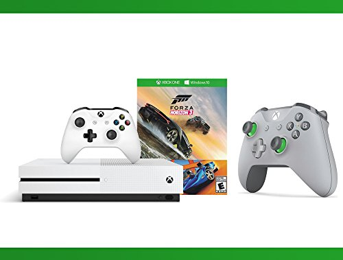Xbox One S 500GB Console – Forza Horizon 3 Hot Wheels Console Bundle + Xbox Wireless Controller – Grey/Green + WWE 2K16 Bundle ( 3 – Items )