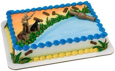 Prime Amazon Com Duck Hunting Birthday Cake Kit Kitchen Dining Funny Birthday Cards Online Barepcheapnameinfo