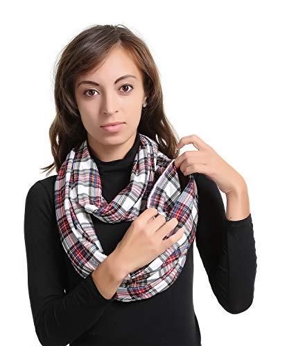 ZipperTravelPocketInfinityScarf-WomenMenConvertibleHiddedZipperScarfThinLightingZipSecretScarvesGiftJerseySecurityTravelPassportPurseFashionZipScarfsForFallSpringWinter