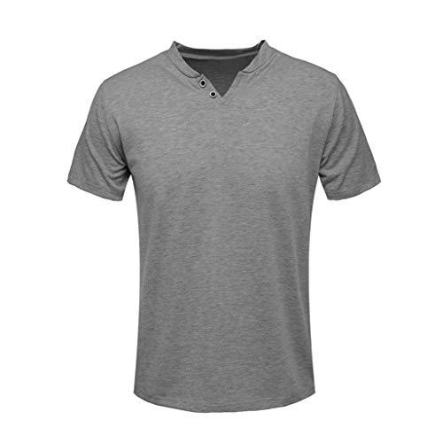 ✦◆HebeTop✦◆ Men's Premium Lightweight Ringspun Cotton Short Sleeve T-Shirt Dark Gray