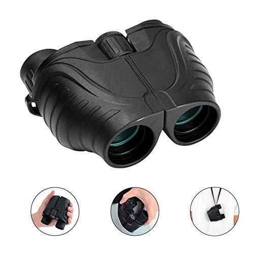 [해외]RONHAN 성인용 쌍안경 컴팩트 경량 12x25 소형 접이식 하이 파워 쌍안경 낮은 야간 비전 HD BAK4 조류 관찰 사냥 극장 콘서트 스포츠 용 / RONHAN Binoculars for Adults Kids Compact Lightweight,12x25 Small Folding High Power Binoculars Water...