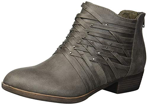 Rampage Women's Tami Woven Strappy Ankle Bootie Boot, Charco