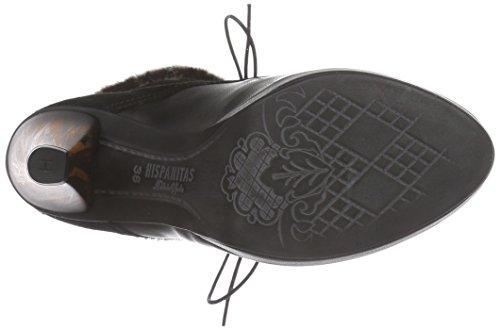 Hispanitas ODETTE - botas de cuero mujer negro - Schwarz (Sauv Black/Crosta Black)