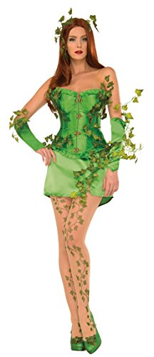 DC Comics Poison Ivy Deluxe Costume, Green, Small -