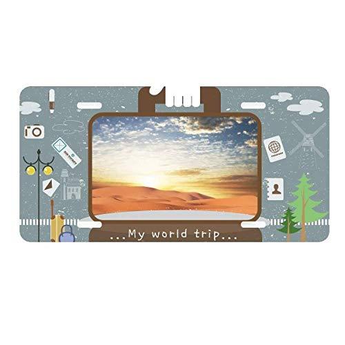 - DIYthinker Blue Sky Journey Silk Road Camel Desert License Plate Car Decoration Tin Sign Travel