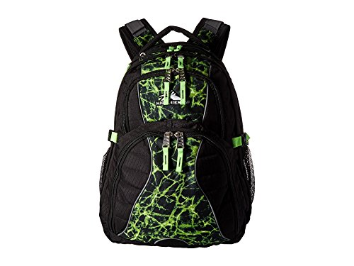 - High Sierra Swerve Laptop Backpack, 17-inch Laptop Backpack for High School or College (Black/Lime Fire/Lime)
