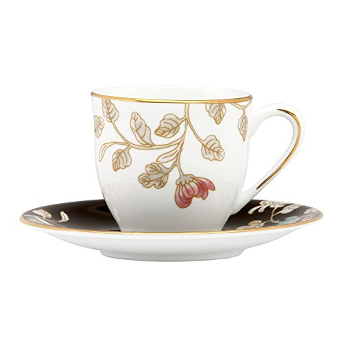 Lenox Marchesa Painted Camellia Espresso Cup and Saucer