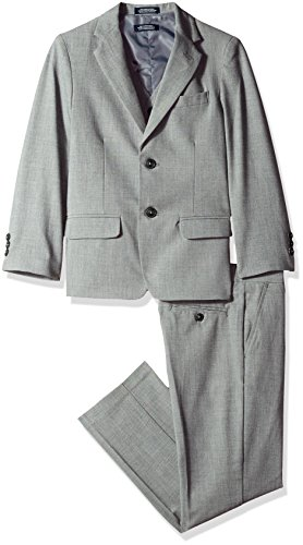 Nautica Three Piece Suit with Jacket, Pant, and Vest, Light Grey, 8