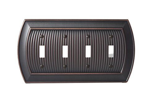 - Amerock BP36531ORB Allison 4 Toggle Wall Plate - Oil-Rubbed Bronze