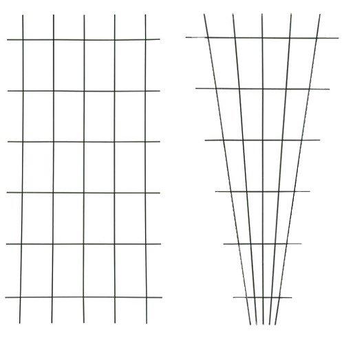 Gitterspalier Spalier Metallspalier Rankgitter Wandspalier Rankhilfe Spaliere, Farbe:1x grün (45cm breit)