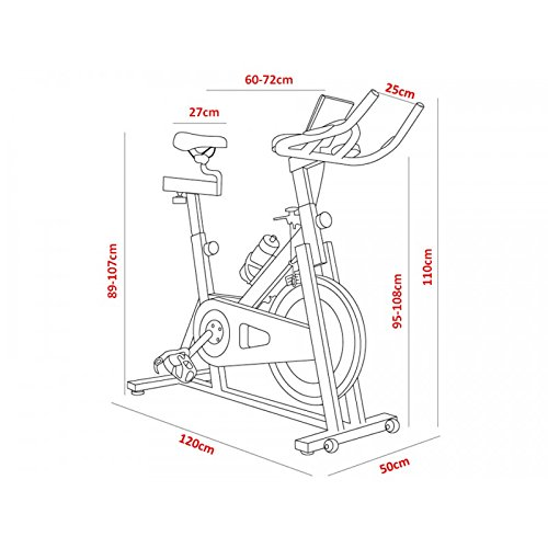 SG-Bicicleta spinning SG24 regulable de 24 kg de disco de inercia ...