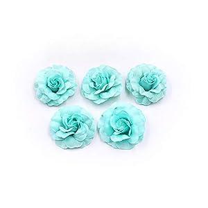 Flower Heads in Bulk Wholesale for Crafts Artificial Silk Mini Rose Fake Flower Head Wedding Home Decoration DIY Party Festival Decor Garland Scrapbook Gift Box Craft 30pcs/lot (Tiffany) 43