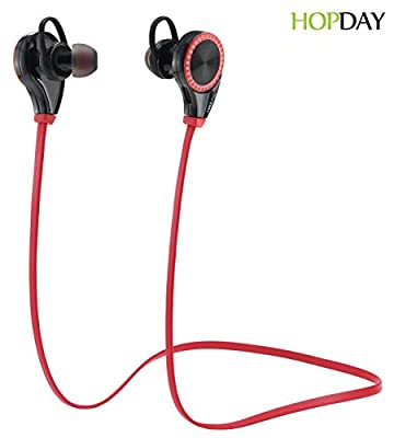 HOPDAY Bluetooth Headphones V4.1 Wireless Stereo In-Ear Earbuds Earphones Headsets for Running Gym Sports with Microphone for iPhone 6s plus Galaxy S6 S5 Android Phones