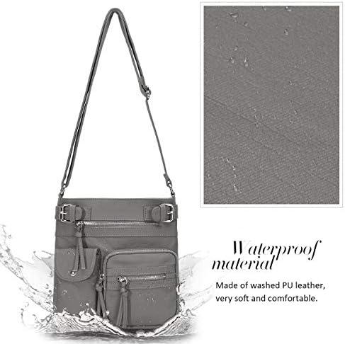 KL928 Crossbody Purses for Women Shoulder Bag, PU Washed Leather