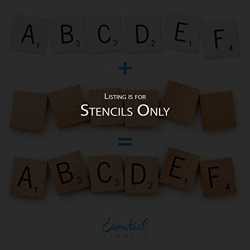 SCRABBLE LETTERS STENCIL SET   Perfect for Painting On Wood, DIY Modern Home Decor Calligraphy Signs, Rustic Decor for Farmhouse, Fixer Upper, Joanna Gaines, Magnolia Style